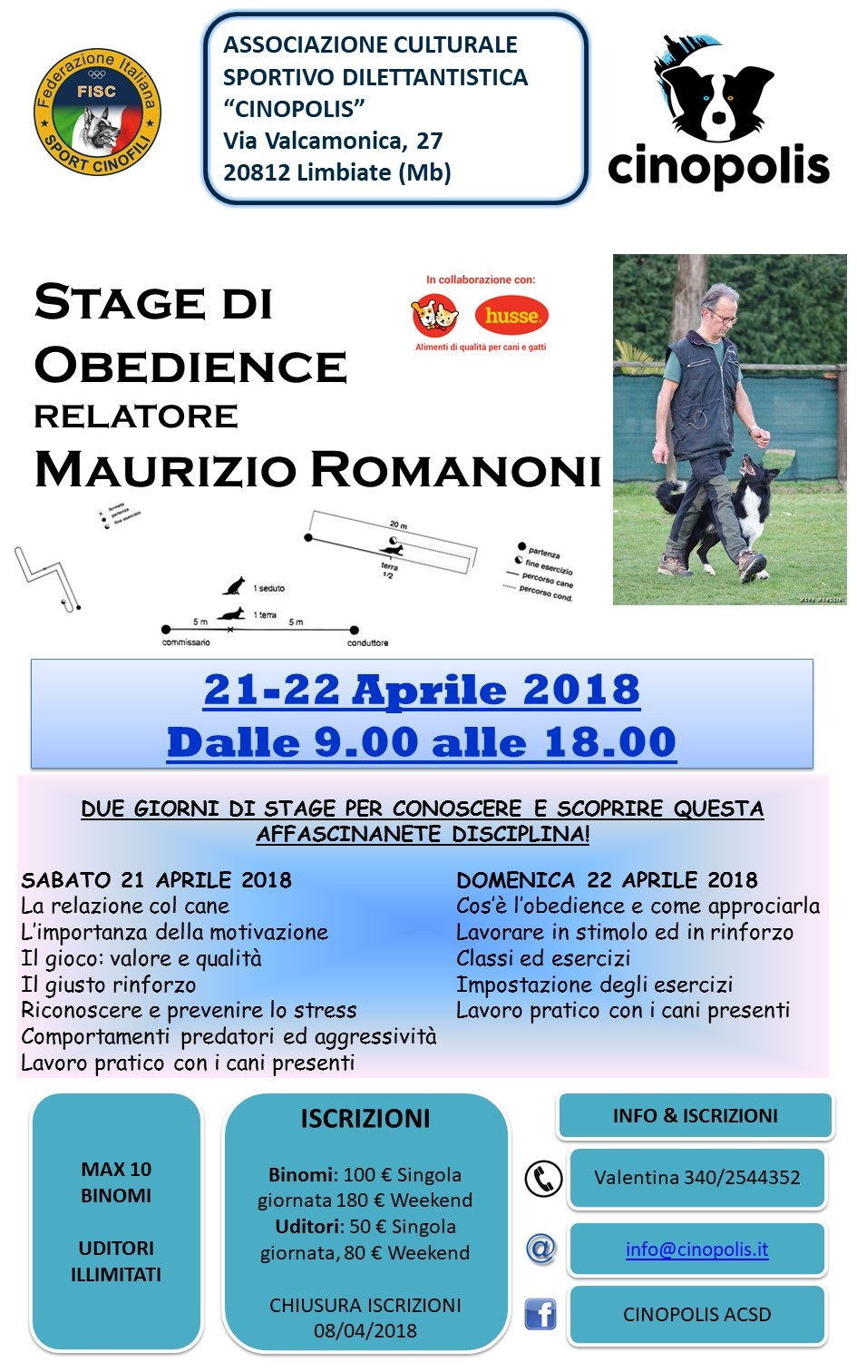 Stage Obedience a Cinopolis